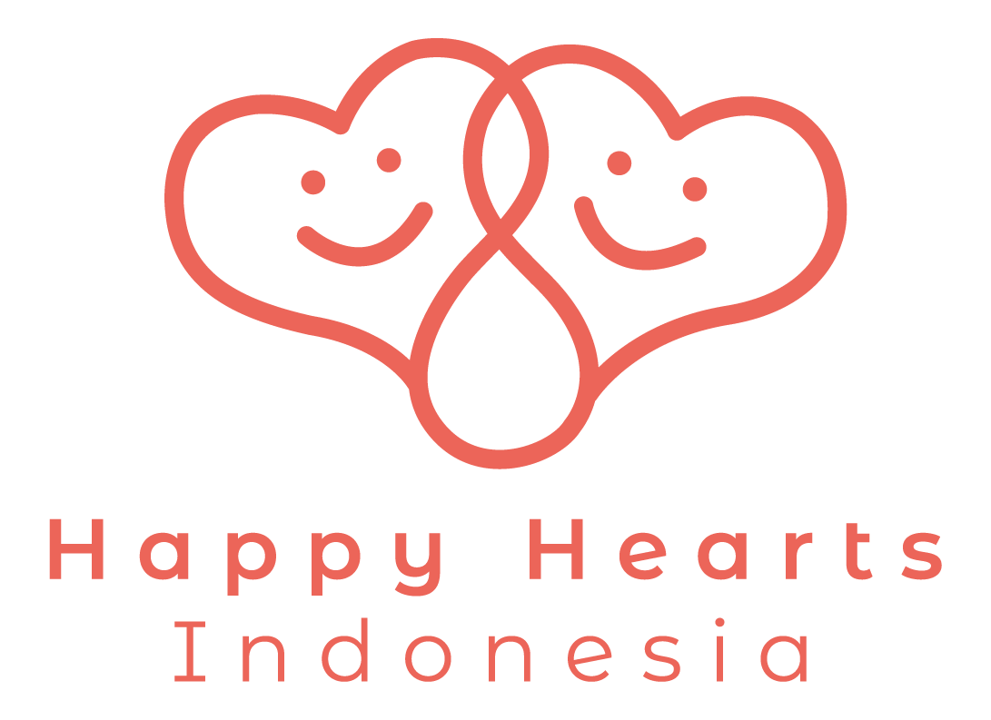 Happy Hearts Indonesia color logo vertical
